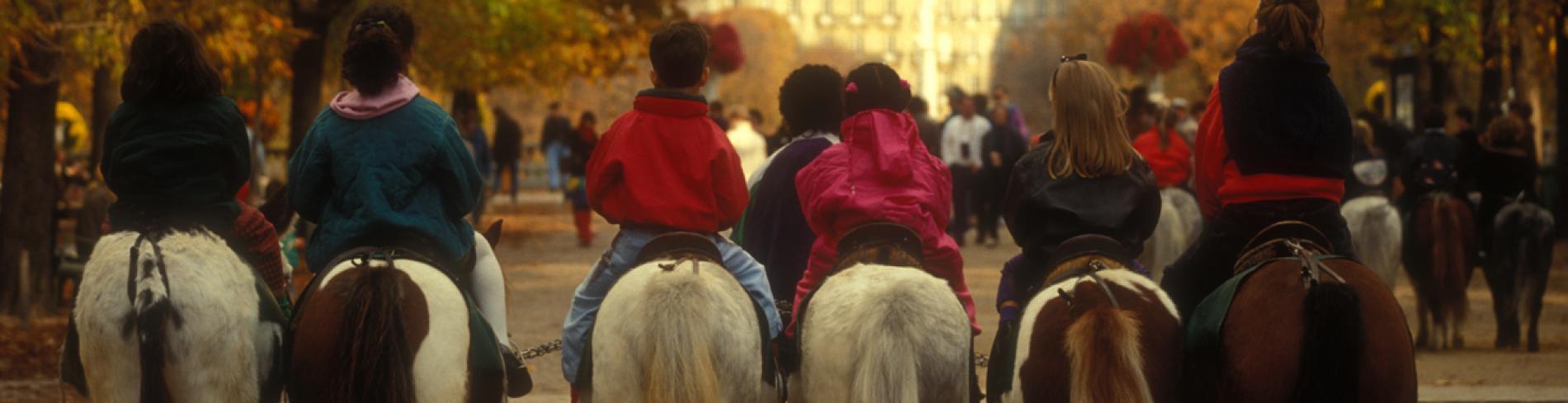 Horseback riding in Paris