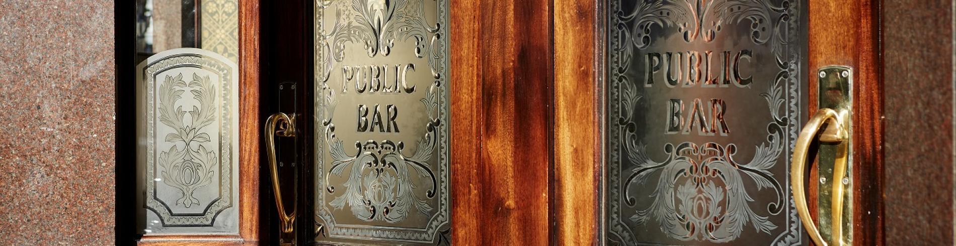 A pub entrance in London