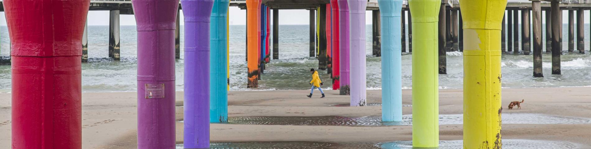 Under the pier at Scheveningen
