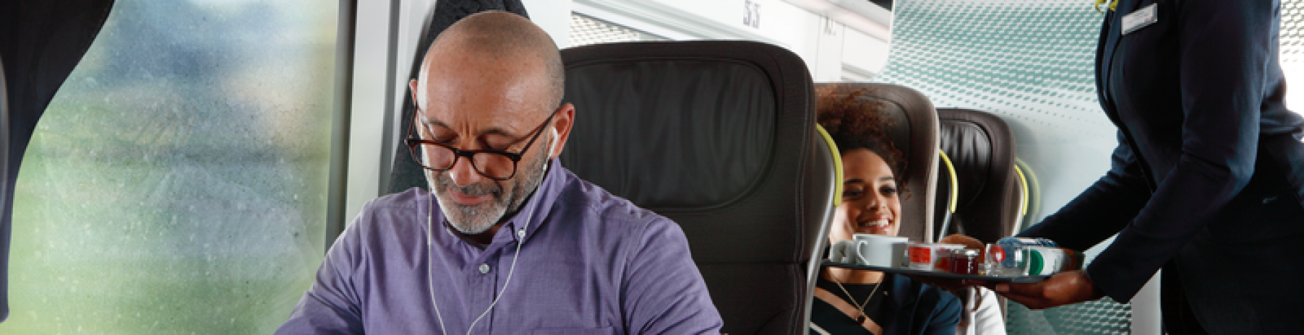 Be productive on the train with our onboard wi-fi