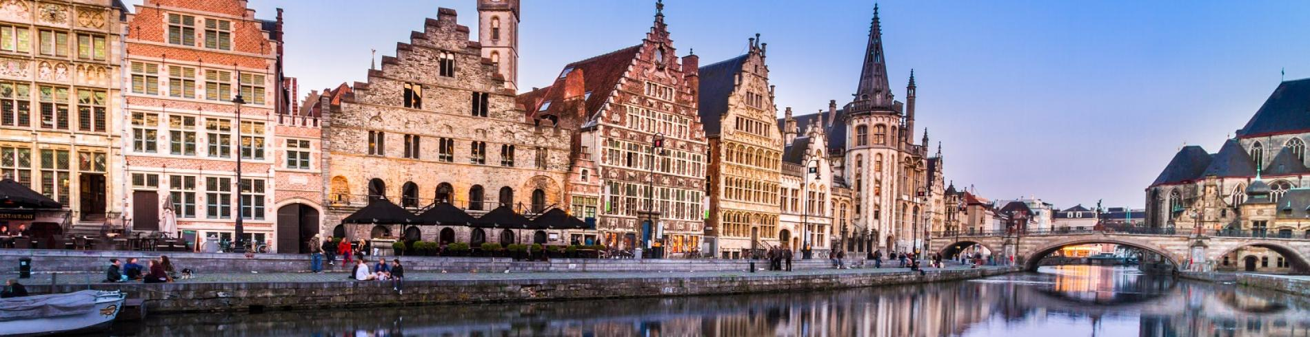 The River Leie in Ghent