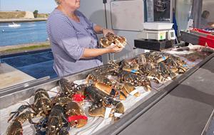 Calais seafood vendor