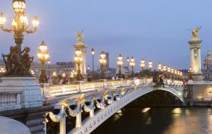 Pont Alexandre 3 at night