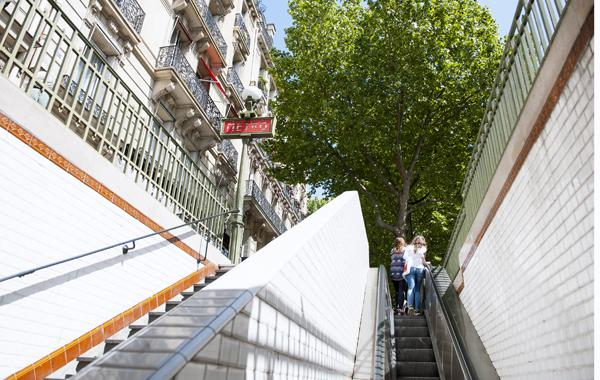 metro entrance, Paris