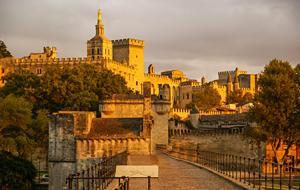Avignon Palais Sunset