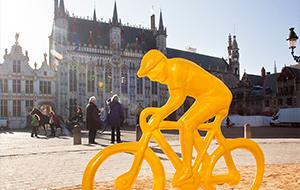 Bruges Cyclist Statue