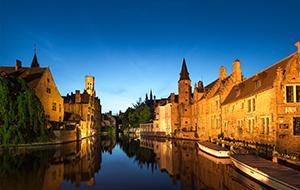 Bruges River Sunset