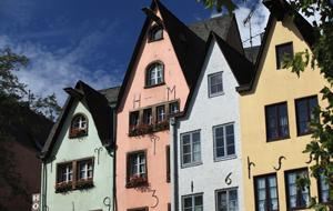 Traditional houses in Cologne