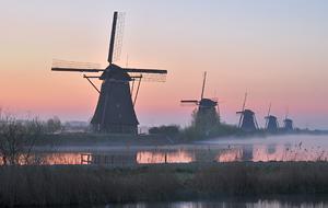 Rotterdam Windmills Kinderdijk