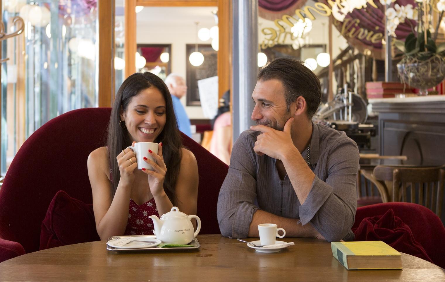 Couple on a romantic break in Paris