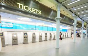 Eurostar's Europe train ticket machines St Pancras station