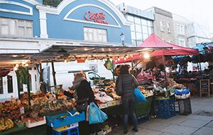 London food stall