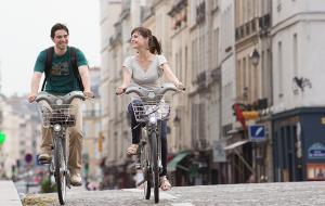 Parisian cyclists
