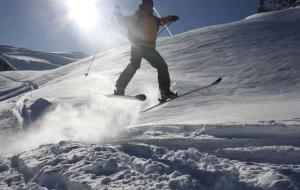 Skiers on the slopes