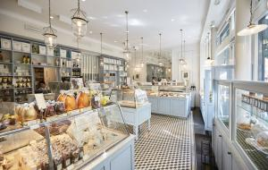 Interior view of Sebastien Gaudard patisserie