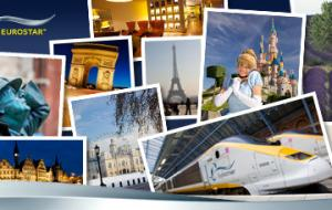 A collection of images showing various Eurostar locations