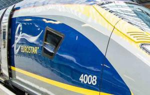 A Eurostar Train at St Pancras International