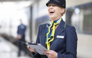 A Eurostar station employee at the station