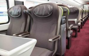 The Seating Inside a Eurostar Train
