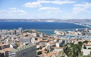 View over the city of Marseille from Notre Dame de la Garde