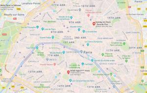 map of central Paris