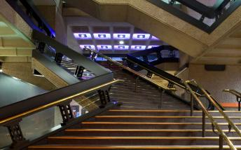 The foyer of the Barbican Centre