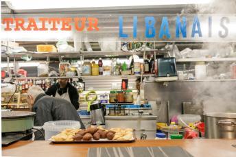 A Lebanese deli in the Enfants Rouge market in Paris