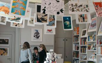 The shop at the House of Illustration