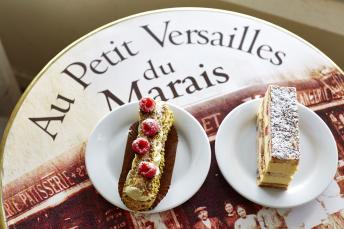 Two cakes from Au Petit Versailles du Marais