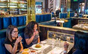 People dining at Bob Bob Ricard