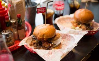 Burgers served at Stax Diner