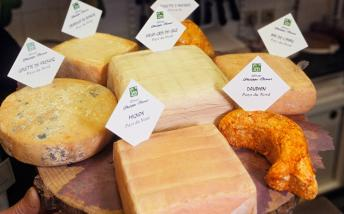 Selection of cheeses from Philippe Oliver
