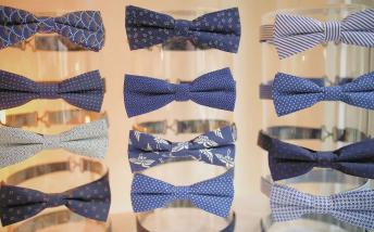 Selection of blue bow ties