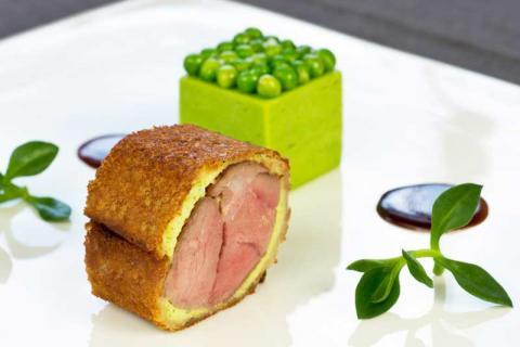main course at Michelin-starred Le Farcon
