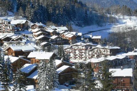 View of the village of La Tania