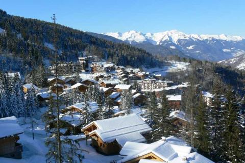View of La Tania village