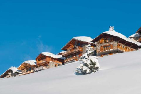 chalets on the slopes of La Rosiere