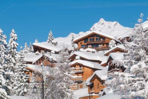The village of La Rosiere in the snow