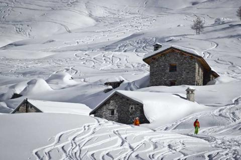 Chalets on the slopes