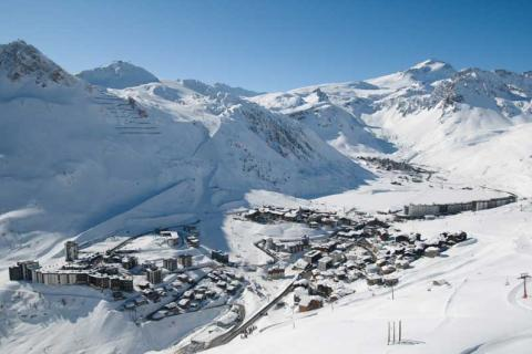 View of Tignes Village from above
