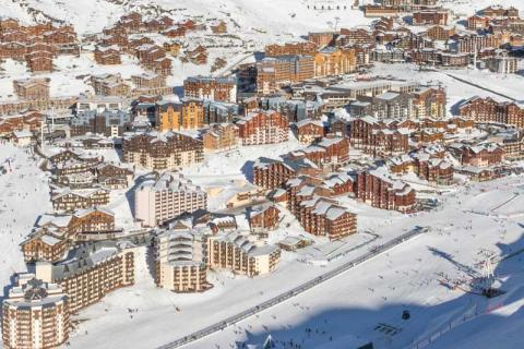 Val Thorens village from the air