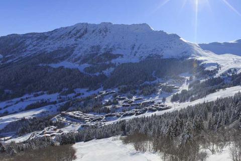 Valmorel village in the sun