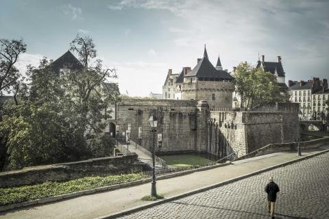 View of the Castle of the Dukes of Brittany, nantes