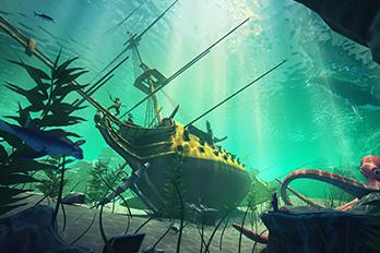 An underwater wreck