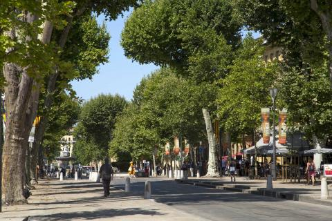 View of the Cours Mirabeau in the Summer