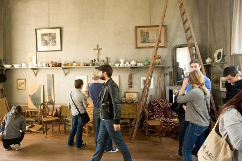 People visiting Cezanne's studio in Aix