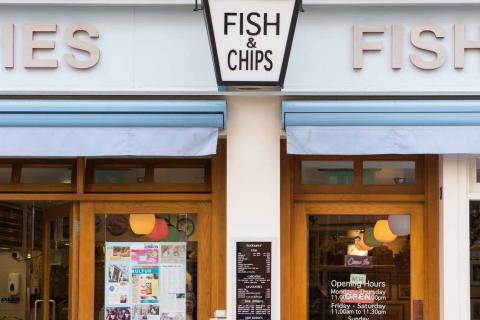 Fish and chips restaurants London