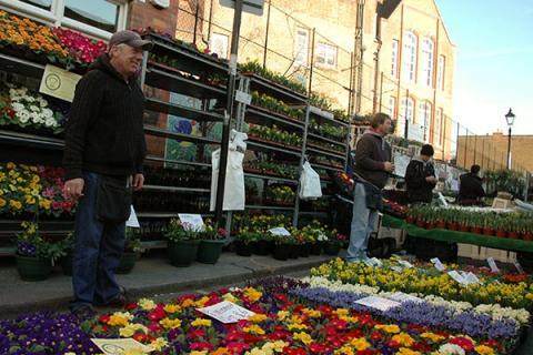 Le Flower Market de Columbia Road
