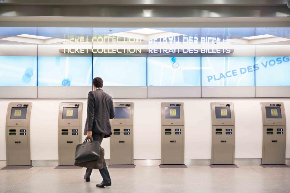 The ticket machines at a station