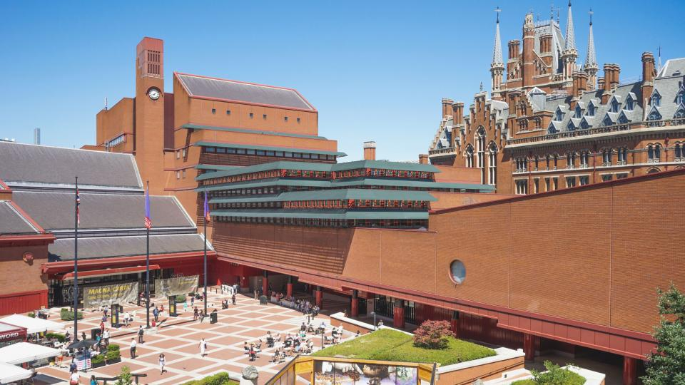 The British Library with St Pancras station in the background